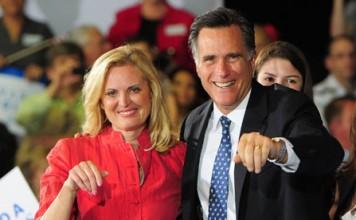 Mitt Romney and wife Ann