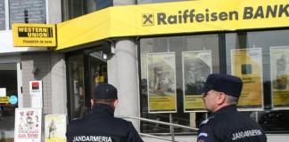 Controale ale poliției la toate băncile din Bucureşti