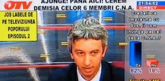 Cererea de suspendare a deciziei CNA în cazul OTV, respinsă de instanță