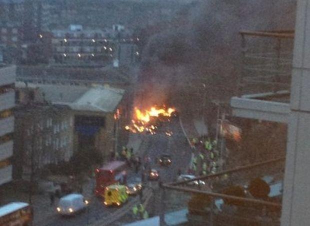 Elicopter prăbușit la Londra
