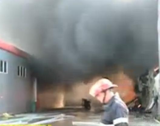 Incendiu puternic în centrul Capitalei