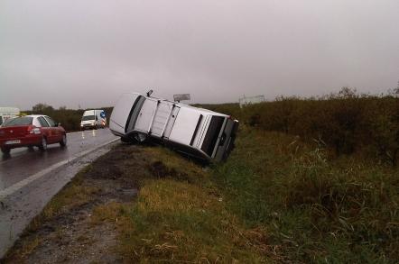 Cinci răniți într-un accident pe Autostrada Soarelui