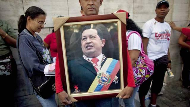 Ceremonie de adio pentru Hugo Chavez