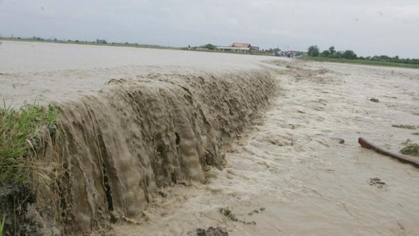 15 gospodării și 430 de hectare, inundate în județul Bihor