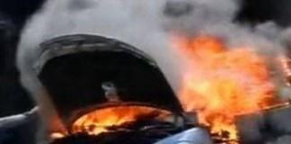 O mașină a ambasadei SUA a luat foc în centrul Capitalei