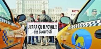 București: Sute de taximetriști protestează față de noua Lege a taximetriei