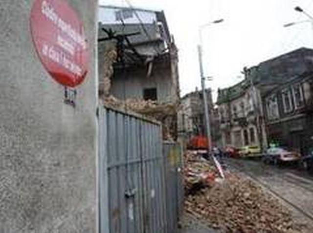 O clădire s-a prăbușit în Centrul Istoric al Capitalei