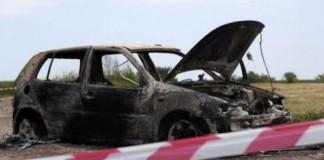 Mehedinţi: Cadavru carbonizat descoperit într-o maşină cu numere de Bulgaria