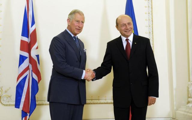 Traian Basescu și Prințul Charles, la Cotroceni, în 11 iunie 2012