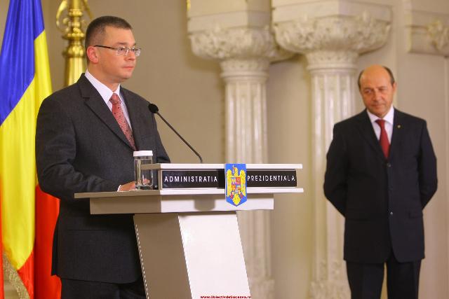 Mihai Răzvan Ungureanu și Traian Băsescu