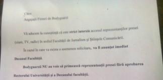 Decanul Facultății de Jurnalism din București interzice accesul jurnaliștilor în clădire