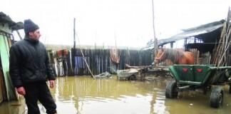 Vaslui: 500 hectare de teren și șapte gospodării, afectate de inundații