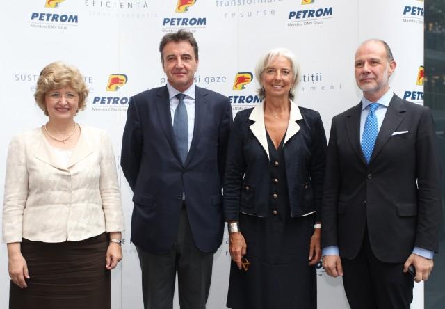 Lagarde a vizitat Petrom City. Ce a făcut șefa FMI la sediul central al OMV Petrom
