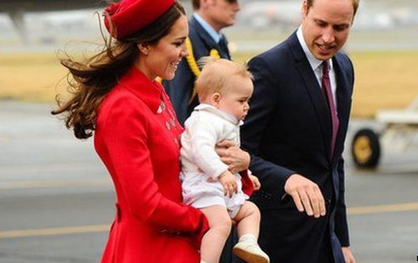Noua Zeelandă Facebook: Kate Middleton, Printul William și Printul George, Primiți