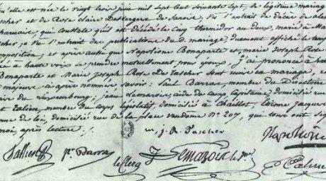 Napoleon certificat casatorie