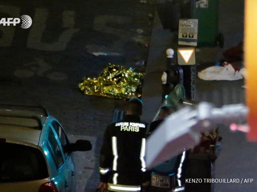 Photo diffusée par l'AFP des attaques perpétrées à Paris le vendredi 13 novembre 2015.