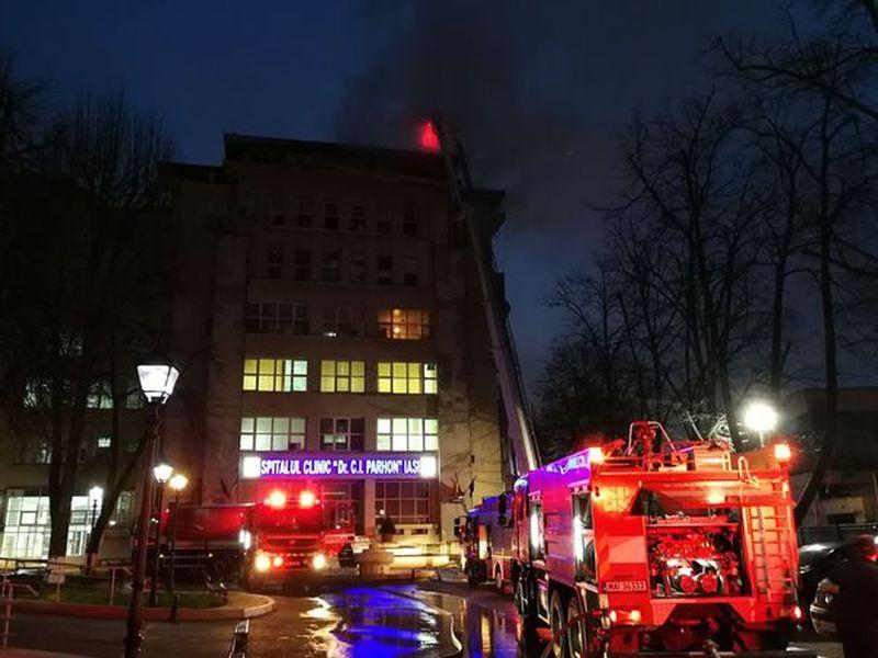 Incendiu devastator la Spitalul de Boli Cardiovasculare ...  |Incendiu Iasi