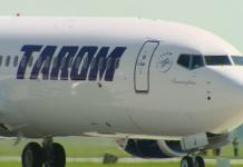 avion tarom, geam fisurat, bucuresti-amsterdam
